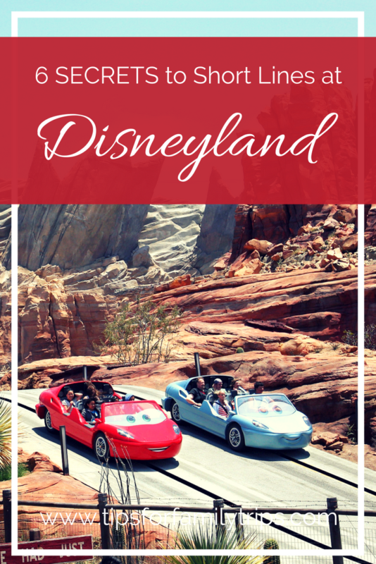 6 SECRETS to Short Lines at Disneyland. Get this FREE minibook when you subscribe to Tips for Family Trips' mailing list! | tipsforfamilytrips.com | Disney tips and tricks | Southern California | travel