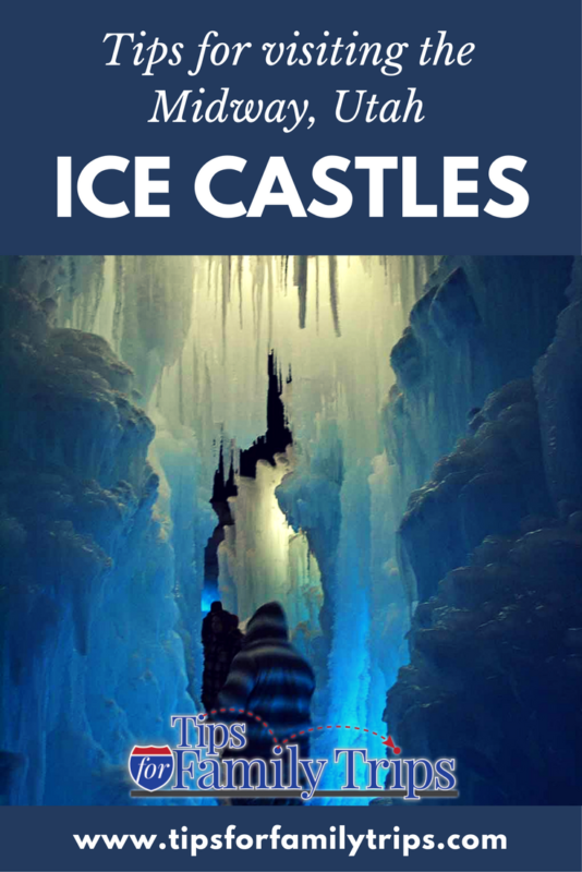 Tips for visiting the Ice Castles in Midway, Utah. This is a fun winter activity for families! | tipsforfamilytrips.com | winter | Park City | Heber Valley | Frozen