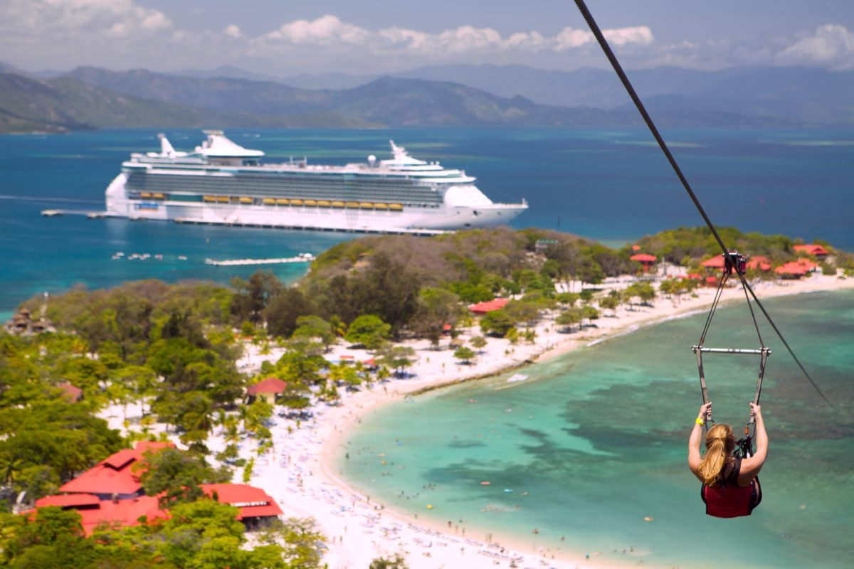 Tips For Riding The World S Longest Over Water Zip Line In Labadee Haiti